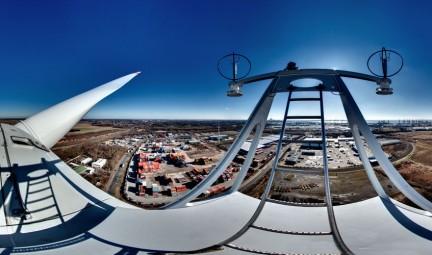 Panoramaprojekt auf Windrad